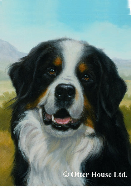Bernese Mountain John Silver Flag
