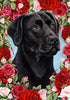 Labrador Retriever Valentine Day Flag