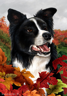 Border Collie Tamara Burnett Fall Flag