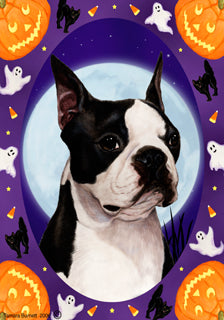 Boston Terrier Tamara Burnett Halloween Howl Flag