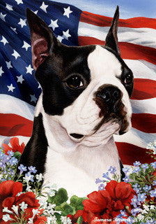 Boston Terrier Tamara Burnett Patriotic Flag