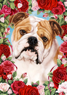 Bulldog Valentines Day Flag