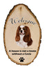 Cavalier King Charles Welcome Vignette Sign