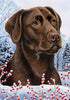 Labrador Tamara Burnett Winter Dog Flag