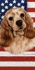 American Flag Cocker Spaniel Beach Towel - 30