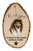 Collie Welcome Vignette Sign