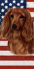 American Flag Dachshund Beach Towel - 30