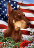 Doberman Tamara Burnett Patriotic Flag