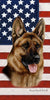 American Flag German Shepherd Beach Towel - 30