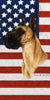 American Flag Great Dane Beach Towel - 30