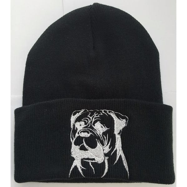Hand Made Bullmastiff Knit Hat