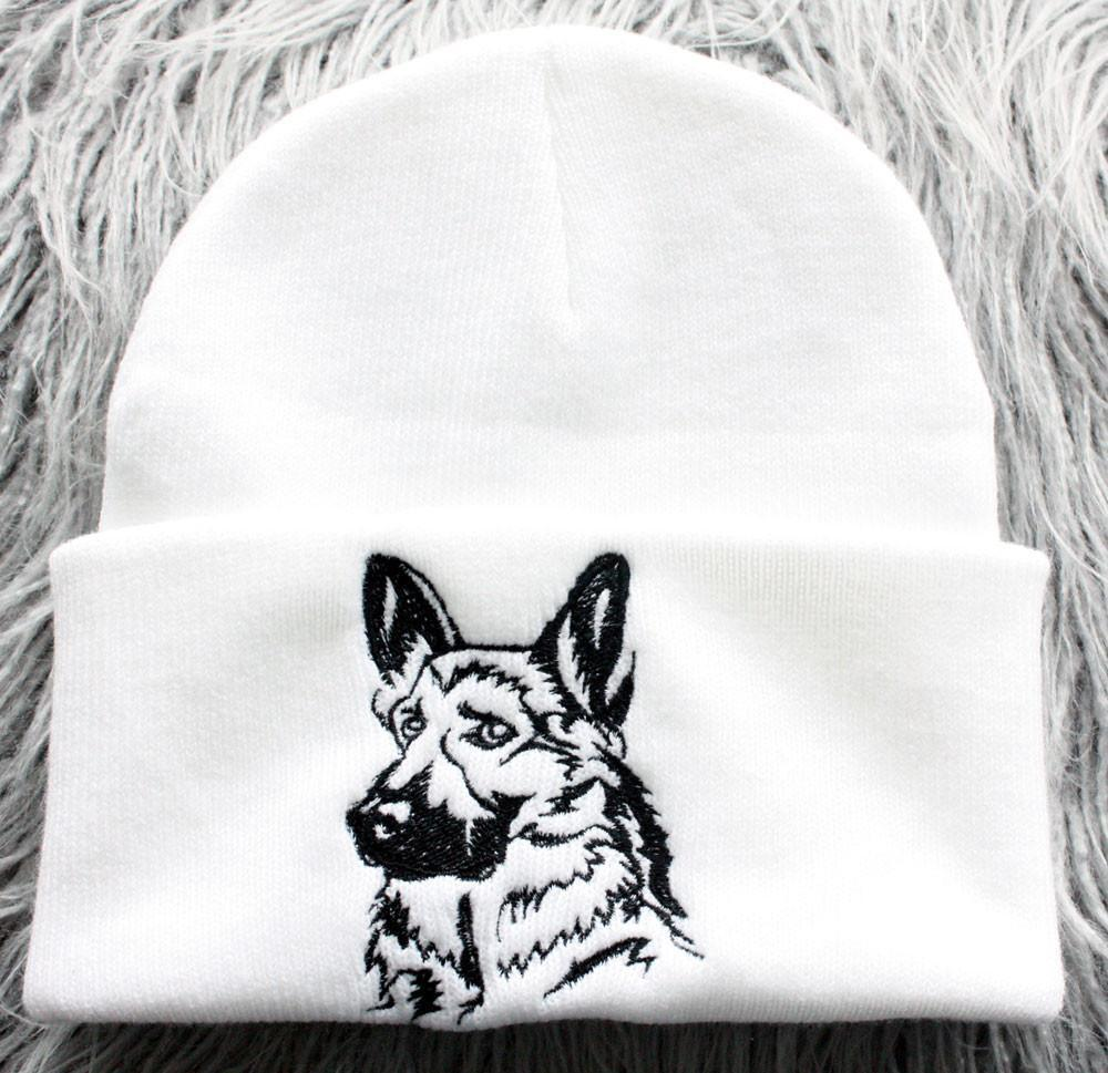 edf757bf653 Hand Made German Shepherd Knit Hat. Next. White Black
