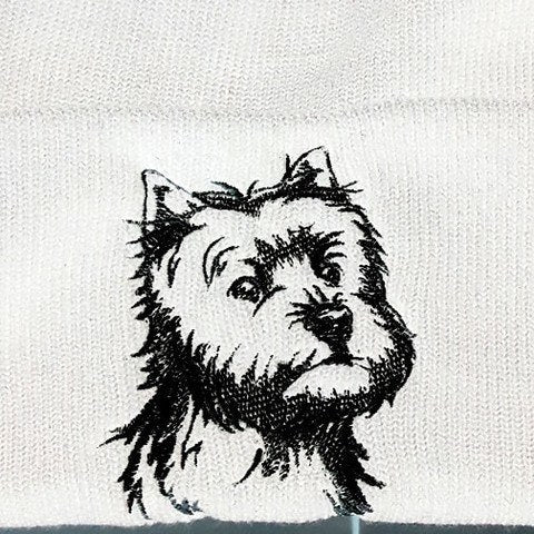 a8bb7a305ef Hand Made Westie Knit Hat - Mostly Paws