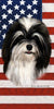 American Flag Havanese Beach Towel - 30