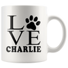 Personalized Love Paw Print 11oz Mug