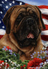 English Mastiff Tamara Burnett Patriotic  Flag