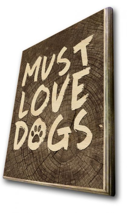 Must Love Dogs Birch Wood Print