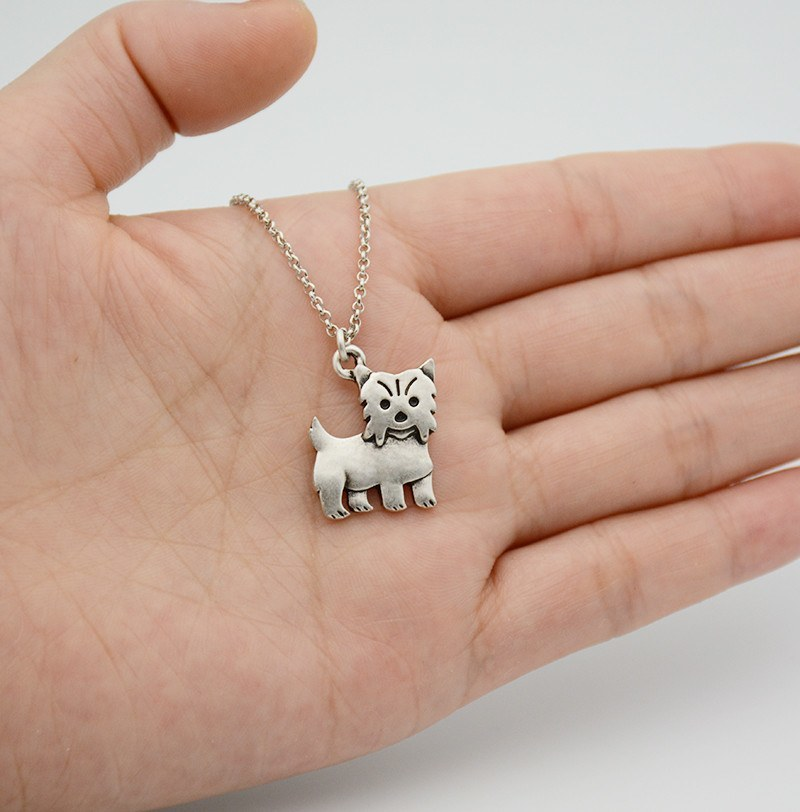 Cute Yorkshire Terrier Pendant Necklace - D