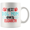 Personalized Best Dog Mom 11oz Mug