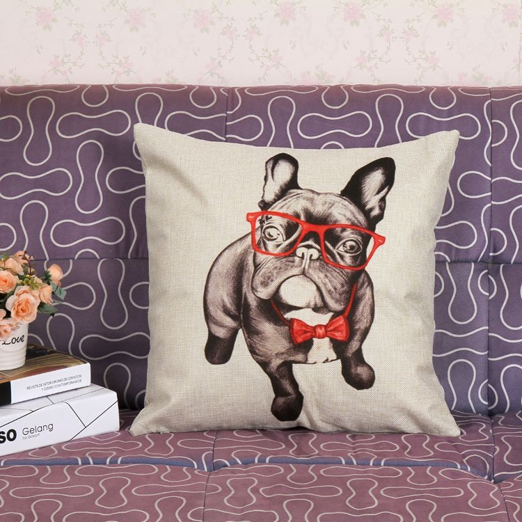 "French Bulldog Decorative Throw Pillow Cover - 18"" x 18"""