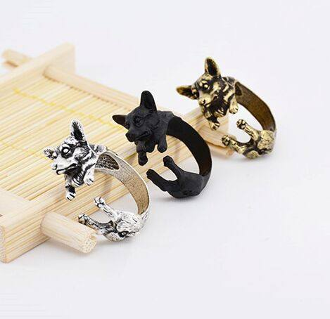 Corgi Shaped Wrap Ring - DS