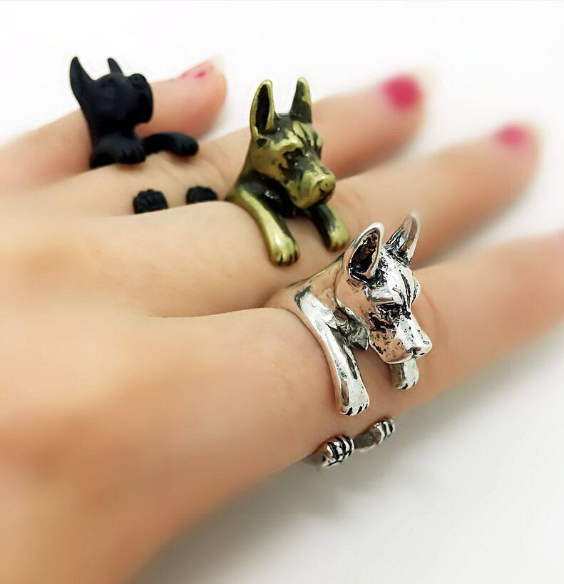 Great Dane Adjustable Wrap Ring Cropped Ear - D