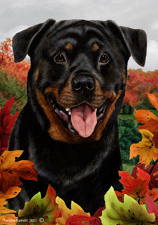 Rottweiler Tamara Burnett Fall Flag