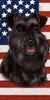 American Flag Schnauzer Beach Towel - 30