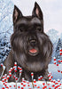 Schnauzer Tamara Burnett Winter Dog Flag