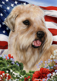 Soft Coated Wheaton Terrier Tamara Burnett Patriotic Flag