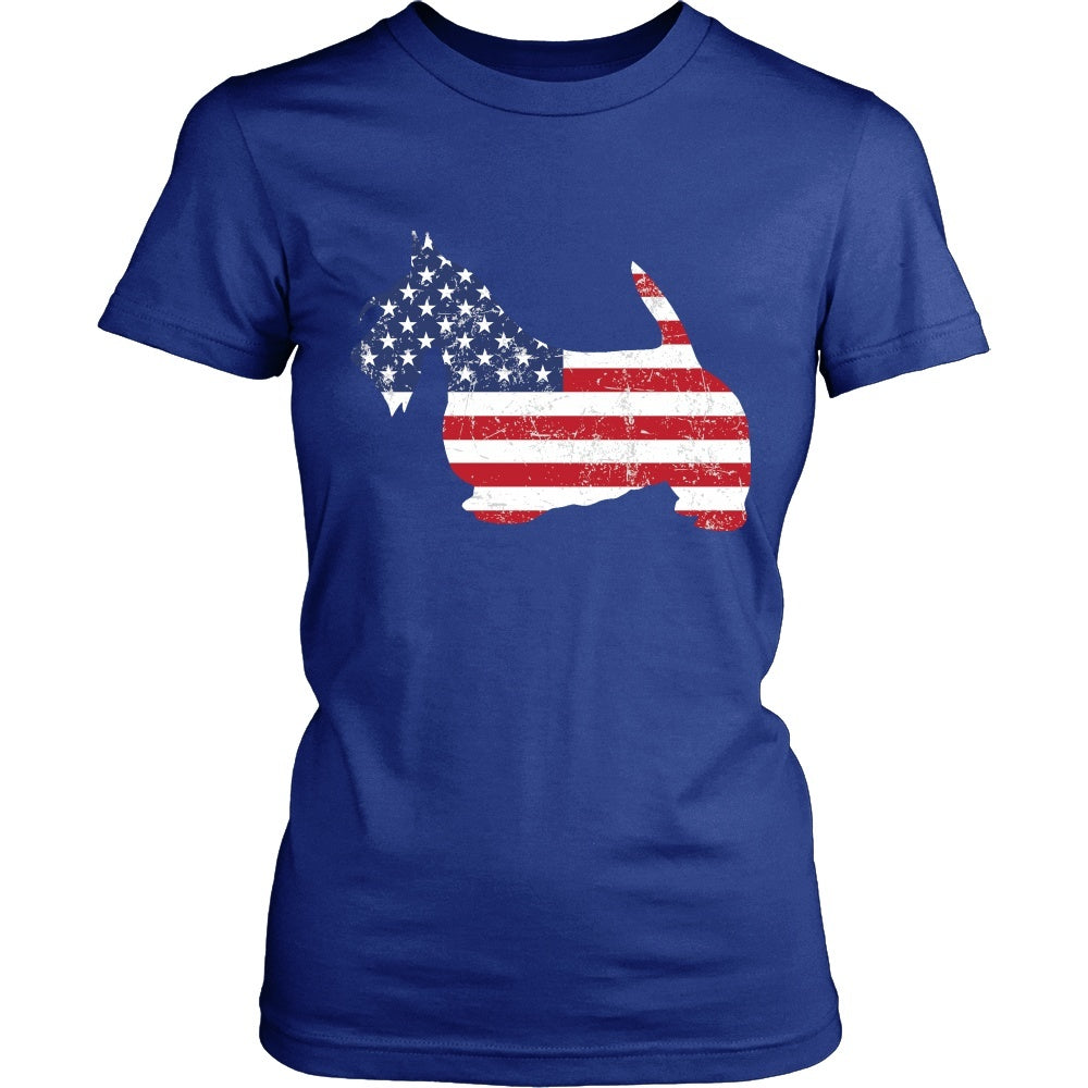american flag scottish terrier dog t shirt mostly paws