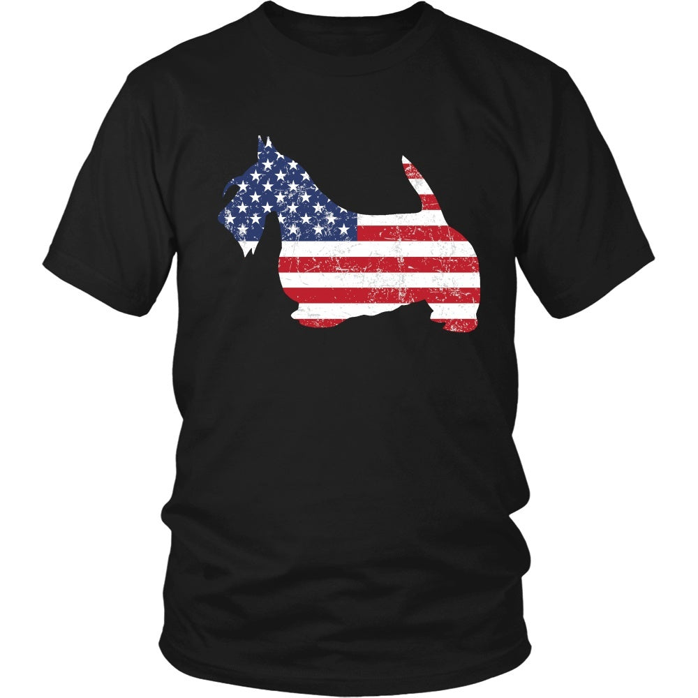 American Flag Scottish Terrier Dog T-Shirt