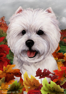 Westie Tamara Burnett Fall Flag
