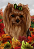 Yorkie Tamara Burnett Fall Flag