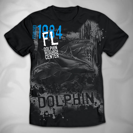 MF3549 Distressed CIty Drips Dolphin