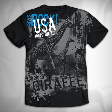MF3549 Distressed City Drips Giraffe