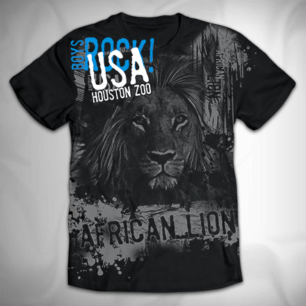 MF3549 Distressed City Drips Lion
