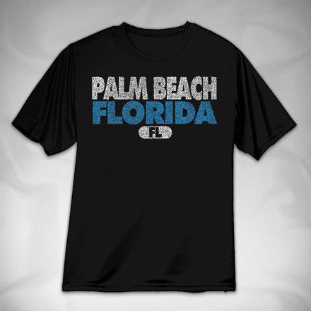 MF6958-4 Sports Stipple Text Performance Tee Palm Beach