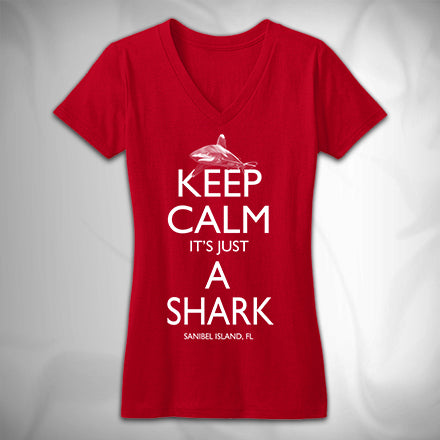 MF7394 Keep Calm Its Just A Shark