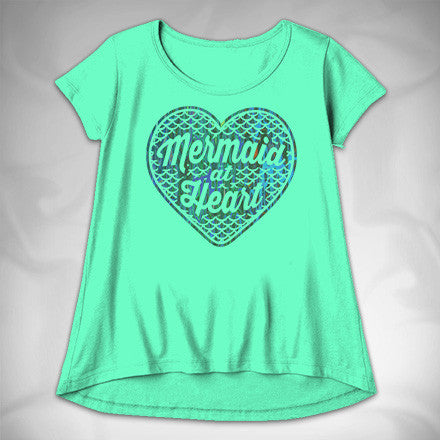 MF7456 Mermaid at Heart High Low Tee