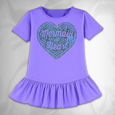 MF7456 Mermaid at Heart Ruffle Jersey Tee