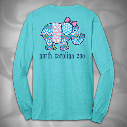 MF7801-2 Southern Inspired Elephant Longsleeve North Carolina Zoo