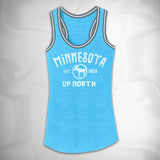 MF7884-4 Outdoor Arch Vintage Tri Blend Sporty Tank Minnesota Moose