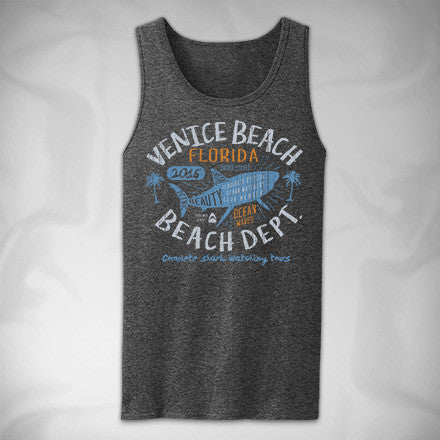 MF8031 Shark Attack Tank Top Venice Beach
