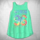 MF8056-3 Rainbow Girls High Low Tank Wild Adventures Tie Dye