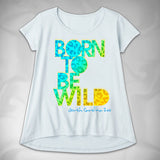 MF8058-2 Born to be Wild High Low Tee North Carolina Zoo