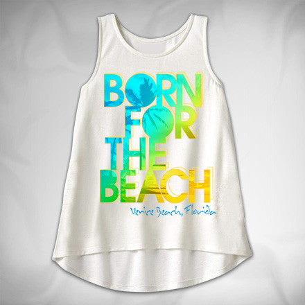 MF8058 Born for the Beach High Low Tank Venice Beach