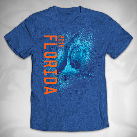 MF8060 3D Splash Shark Vintage Tee Florida