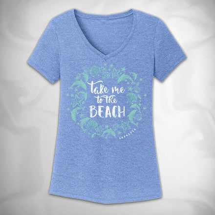 MF8142-2 From the Beach Perfect Tri V Neck Tee Sarasota