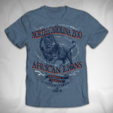 MF8144 Milestone Garment Dye Tee North Carolina Zoo Lion